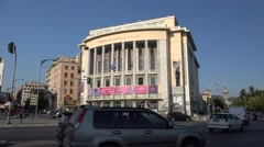 National Theatre of Northern Greece. Thessaloniki. Greece Stock Footage