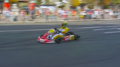 Kart driver turned in one place at a high speed, drifting Stock Footage