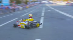 Kart driver turned in one place, the elements of extreme driving Stock Footage