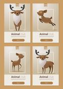 Animal banner with Deers for web design Piirros