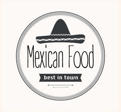 Mexican food logo Stock Illustration