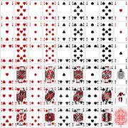 Poker cards full set two color classic design Stock Illustration