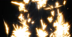 Sparklers Celebration Pyro Slowmotion Stock Footage