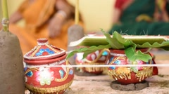 Indian Wedding rituals Pan shot Stock Footage