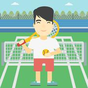 Male tennis player vector illustration Stock Illustration