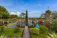 Water Palace Tirta Ganga - Bali Island Indonesia Stock Photos