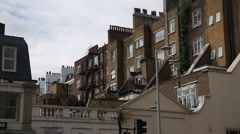 London flats: Rear view. Brick Victorian Houses Stock Footage