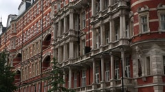 Expensive London flats (Regency Architecture Facade) Stock Footage