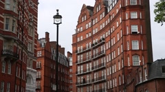 Expensive London flats (Regency Architecture) Stock Footage
