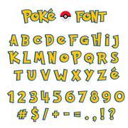 Cartoon Comic Font. Alphabet in style of comics - stock illustration