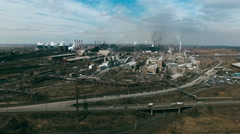 Metallurgical Plants Polluting Air Stock Footage