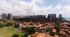 Drone Dolly out of Fortaleza Skyline Stock Footage