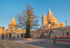 Fisherman's Bastion in Budapest, Hungary Stock Photos