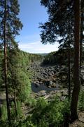 Outlook over Doeda Fallet, the dead fall, in Sweden Stock Photos