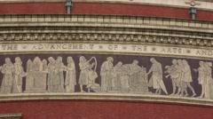 The Royal Albert Hall close up Stock Footage