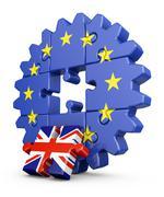 Puzzle  EU and UK Stock Illustration