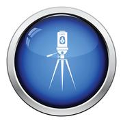 Laser level tool icon Stock Illustration