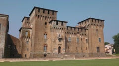Majestic Saint George castle in Mantua Stock Footage