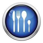 Silverware set icon Stock Illustration
