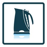 Kitchen electric kettle icon - stock illustration