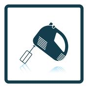 Kitchen hand mixer icon Stock Illustration