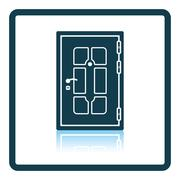 Apartments door icon Stock Illustration