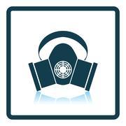 Dust protection mask icon Stock Illustration