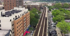 Bronx Subway Aerial Shot Stock Footage
