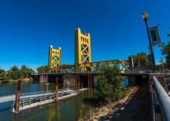 Sacramento California Tower Bridge Kuvituskuvat