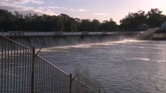 The weir on the Murray River at Mildura Stock Footage