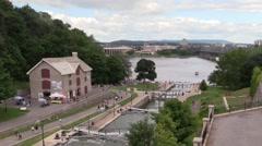 Rideau Canal Locks Stock Footage