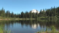 Mirror Lake In Mt Hood National Forest Stock Footage