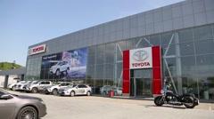 Toyota Center Vladivostok - dealer of Toyota, Russia Stock Footage