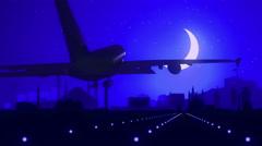 Ankara Turkey Blue Landing Skyline Midnight Background Stock Footage