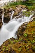 Little Qualicum Falls on Vancouver Island, British Columbia, Canada Stock Photos