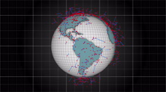 A global network surrounds the planet Earth - Earth 1021 HD, 4K Stock Footage