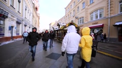 Moscow during New Year and Christmas holidays. Stock Footage