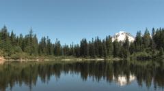 Mirror Lake And Mt Hood Stock Footage
