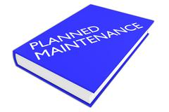 Planned Maintenance concept Stock Illustration