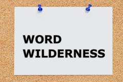 Word Wilderness concept Stock Illustration