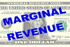 Marginal Revenue concept Stock Illustration