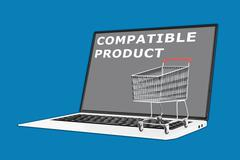 Compatible Product concept Stock Illustration