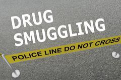 Drug Smuggling concept Stock Illustration