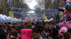 People celebrating Argentina 200 years independence day Stock Footage