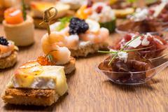 Exquisite selection of luxury appetizer - stock photo