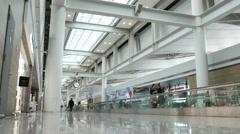 Incheon International Airport, departures hall Stock Footage