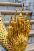 Wat Phra Kaew, temple of Emerald Buddha in Bangkok, Thailand Stock Photos
