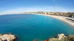 Beach in Nice, French Riviera Stock Footage