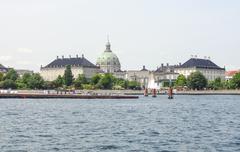 waterside scenery in Copenhagen - stock photo