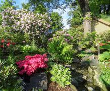 Flourish garden scenery Stock Photos